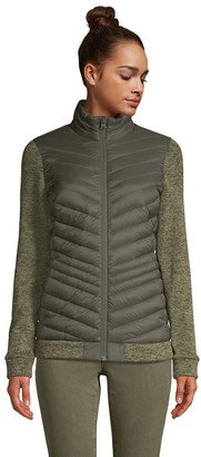 Lands' End Petite Down Ultralight Packable Sweater Fleece Jacket