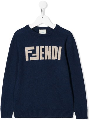 Fendi loose-fit logo jumper