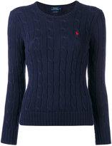 Polo Ralph Lauren logo cable-knit sweater - women - Cotton - XS