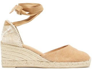 Castaner Carina 60 Canvas And Jute Espadrille Wedges - Light Tan