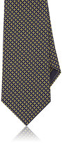 Brioni Men's Square-Dot Jacquard Silk Necktie-YELLOW
