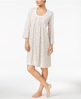 Miss Elaine Tucked-Front Printed Nightgown