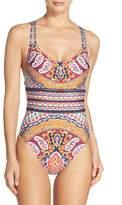 Nanette Lepore Woodstock Goddess One-Piece Swimsuit