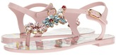 Dolce & Gabbana Carretto Jelly Sandal with Swarovski Crystals Women's Shoes