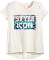 Epic Threads Style Icon Split-Back Graphic-Print T-Shirt, Big Girls (7-16), Only At Macy's