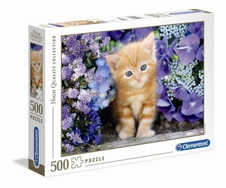 Clementoni Puzzle - Ginder Cat In Flowers - 500 Pcs