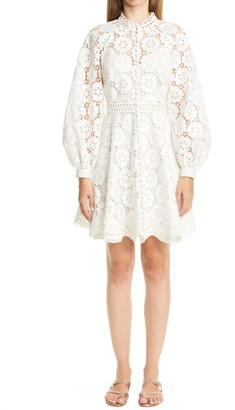 Zimmermann Bells Embroidered Long Sleeve Dress