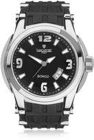 Lancaster Bongo Tempo Men's Silver Stainless Steel Watch w/ Black Rubber Strap