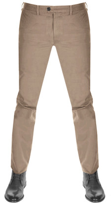 Ted Baker Sincere Slim Fit Chinos Brown