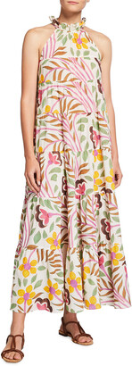 Rhode Resort Julia Floral-Print Trapeze Dress