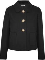 Miu Miu Embellished Cady Jacket - Black