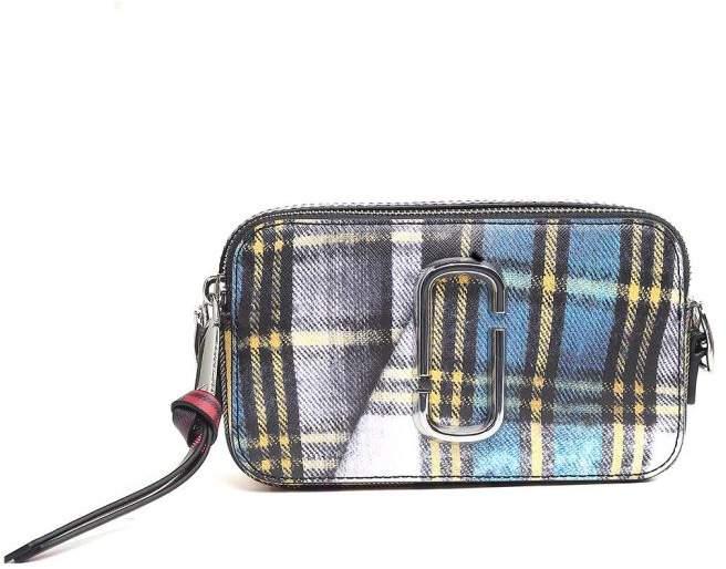 Marc Jacobs Snapshot Tartan-print Saffiano-leather Camera Bag