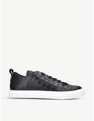 Giuseppe Zanotti Blabber crocodile-embossed leather trainers