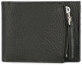 Maison Margiela zip compartment billfold wallet - men - Leather - One Size
