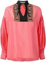 Etro gathered longsleeves shift blouse