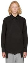 D.gnak By Kang.d Black Double Oblique Shirt