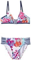 Splendid Littles Full Bloom Bralette Tab Side Pants Girl's Swimwear Sets