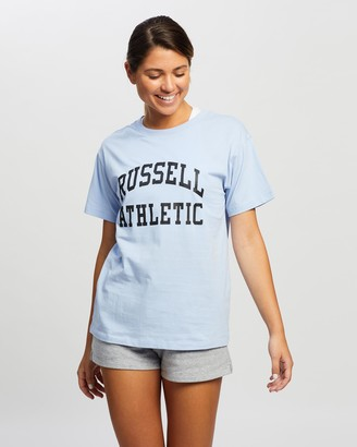 Russell Athletic Arch Logo Boyfriend Tee