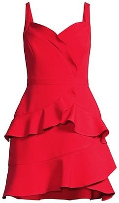 BCBGMAXAZRIA Eve Tiered Mini Dress