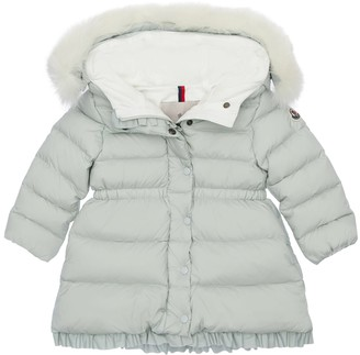 Moncler Nylon Down Coat W/fur