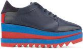Stella McCartney Sneak-Elyse platform shoes - women - Cotton/Artificial Leather/rubber - 35