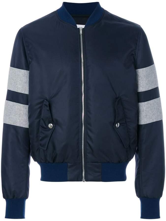 MSGM colour block bomber jacket