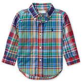 Ralph Lauren Boy Plaid Cotton Poplin Shirt