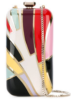 Elie Saab colour block boxy clutch - women - Leather/PVC/metal - One Size