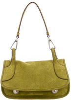 Prada Green Suede Shoulder Bag