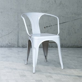 Restaurant Products Guild Metal Arm Chair (Set of 2 Color: White