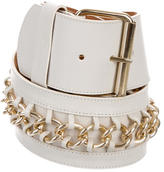 Blumarine Leather Chain-Link Belt