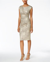 Connected Draped Metallic Dress