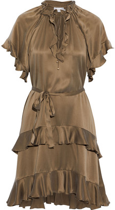 Zimmermann Flutter Tiered Washed-silk Mini Dress
