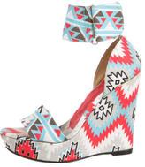 Theodora & Callum Theodora Callum Aztec Platform Wedge Sandals