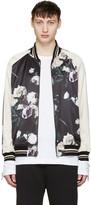 Lad Musician Reversible Multicolor Floral Satin Bomber Jacket