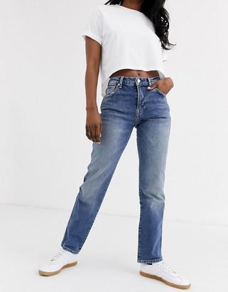 Pepe Jeans Betties roll hem boyfriend jeans-Blue