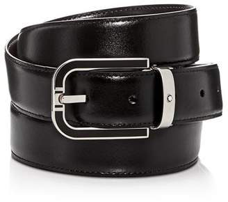 Montblanc Men's Horseshoe Buckle Reversible Leather Belt