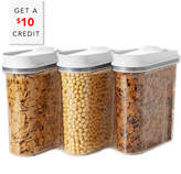 OXO Good Grips 3 Piece Pop Cereal Dispenser Set With $10 Rue Credit