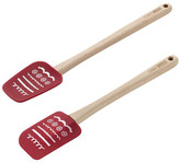 Cake Boss Red Icing 2-Piece Silicone Spatula and Spoonula Set