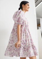 Thumbnail for your product : And other stories Tiered Puff Sleeve Mini Dress