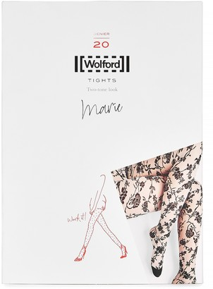 Wolford Marie floral 20 denier tights