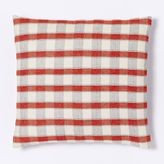 west elm Hand-Loomed Silk Checker Striped Pillow Cover - Cayenne