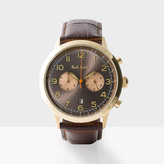 Paul Smith Men's Grey And Brown 'Precision' Chronograph Watch