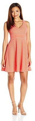 Adrianna Papell Women's Striped Ottoman Knit Petite