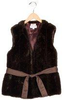 Helena Girls' Textured Belted Vest