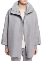Loro Piana Ralph Double-Face Cashmere Coat, Powder Angel Melange