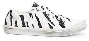 Saint Laurent Women's Bedford Low-Top Distressed Canvas Sneakers