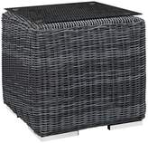 Modway Summon Outdoor Square Patio Side Table - Gray