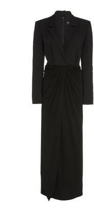 Brandon Maxwell Front-Slit Crepe-Jersey Dress