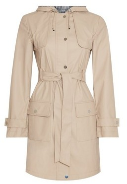 Dorothy Perkins Womens Stone Raincoat Mac Coat
